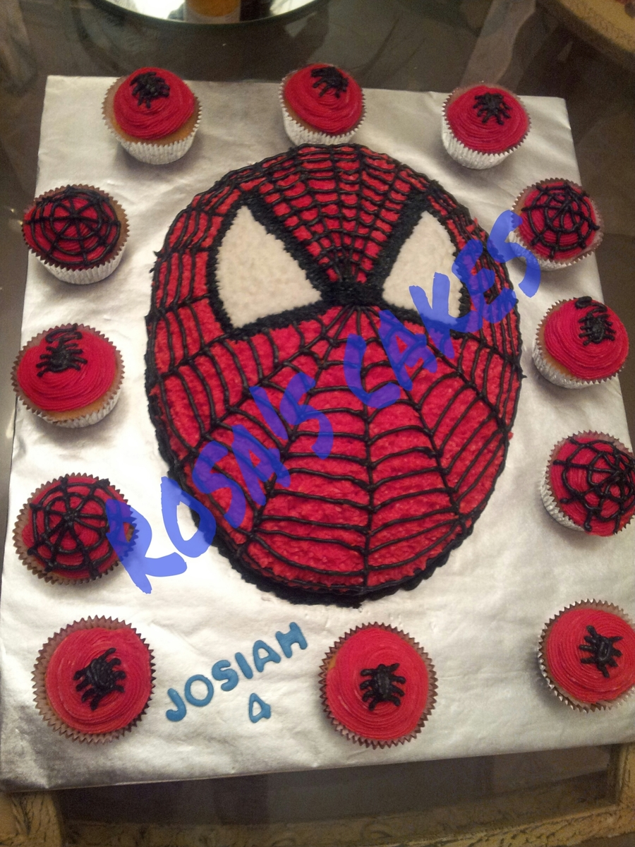 Spiderman Cake And Cupcakes Made For My Nephews Birthday On Central