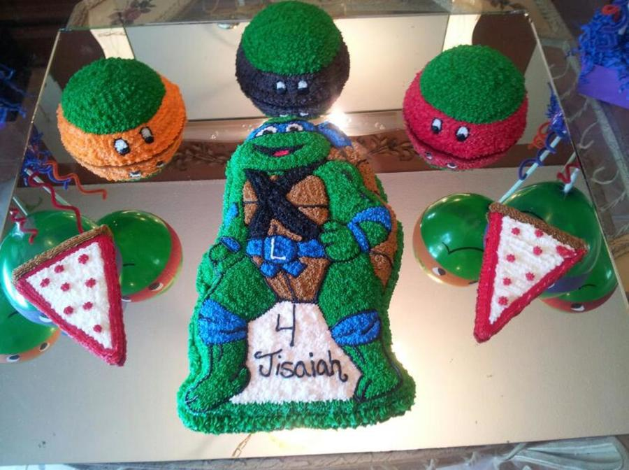 Tmnt Cake For My Sons 4Th Birthday His Favorite Is Leo So I