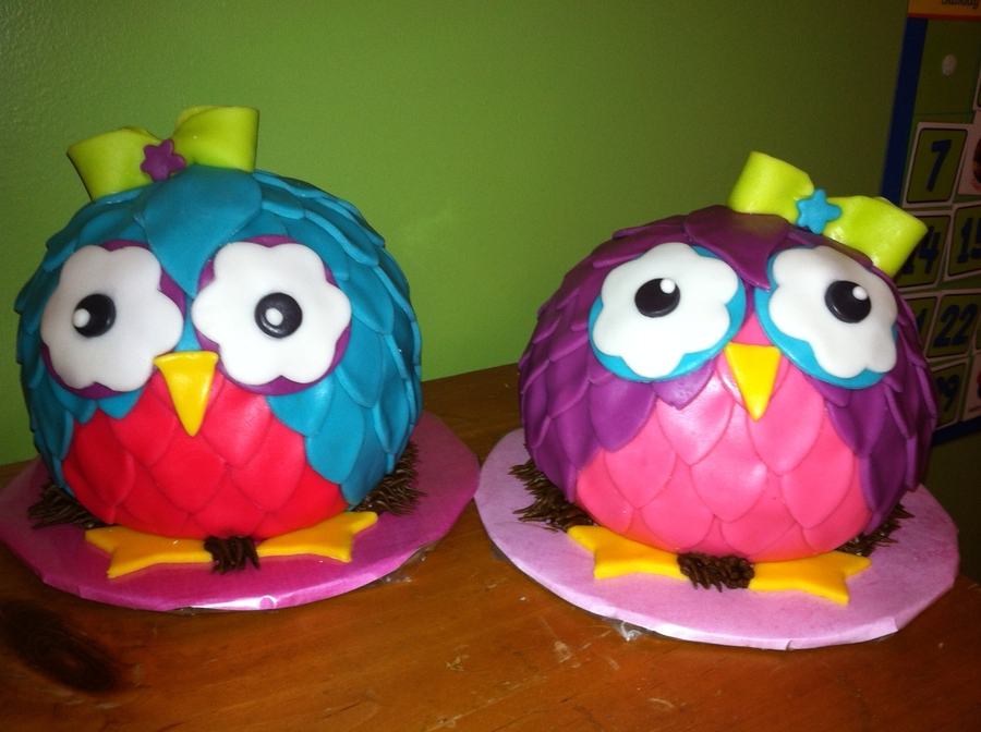 Owl Sisters  on Cake Central