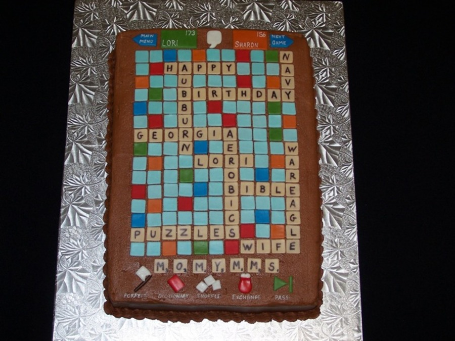 Scrabble on Cake Central