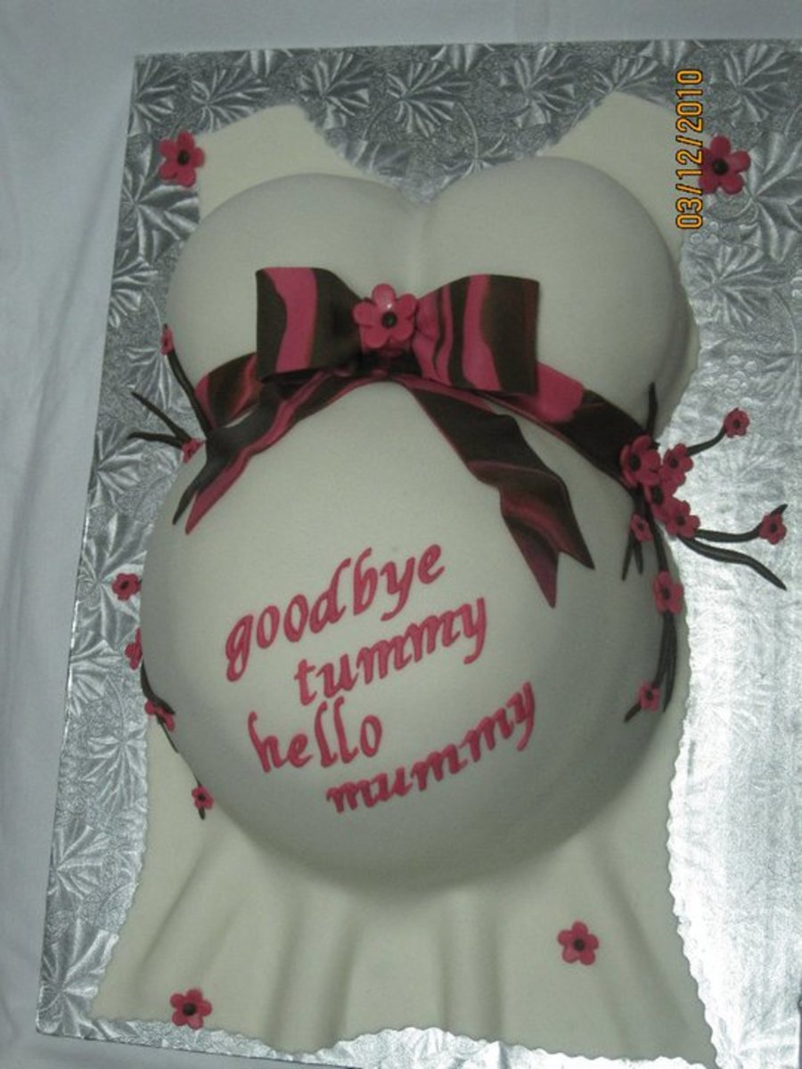 Baby Shower Belly Cake on Cake Central