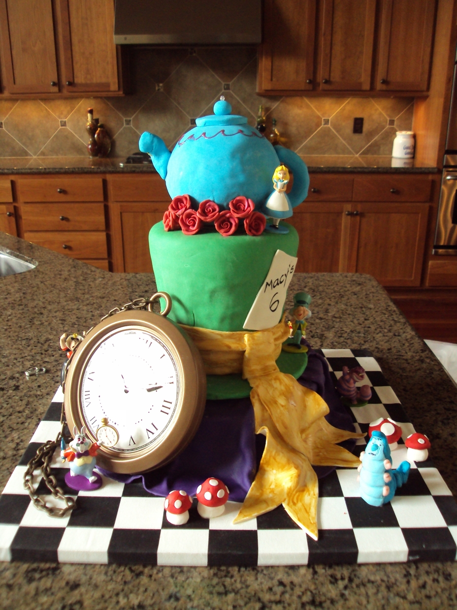 Alice In Wonderland Mad Hatter Tea Party Cake on Cake Central