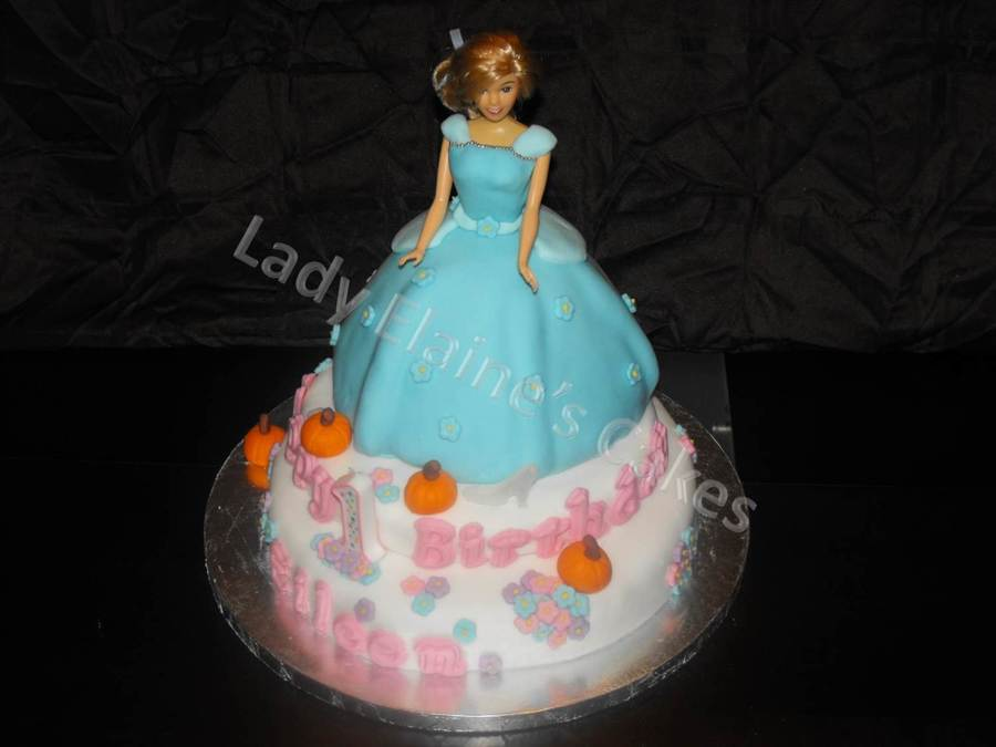 Cinderella Cake For A First Birthday on Cake Central