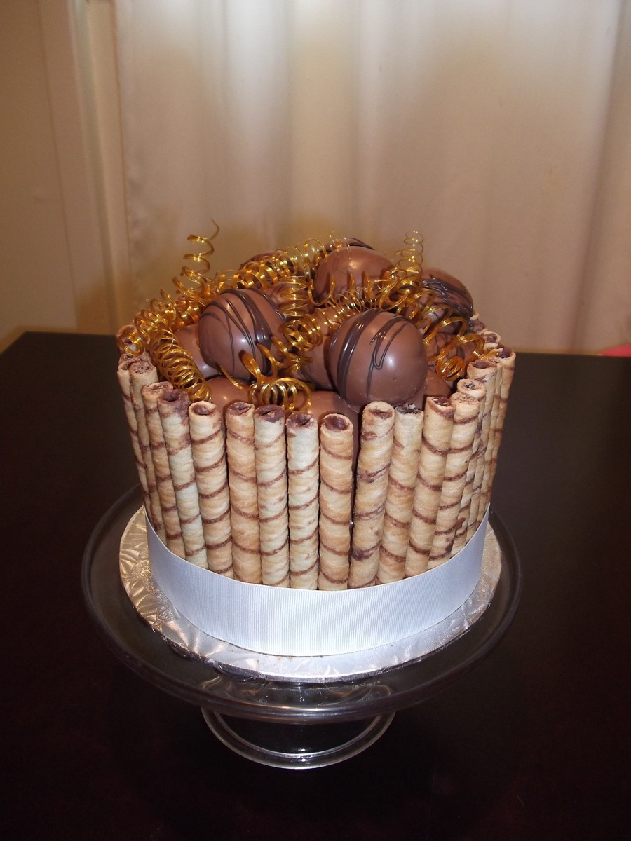 Chocolate Cookies, Truffles And Sugar Curls on Cake Central