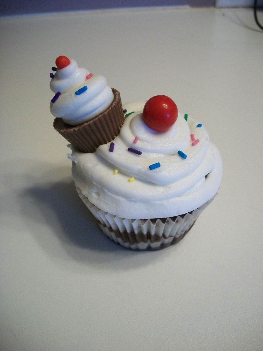 Cupcake With Mini Cupcake! on Cake Central