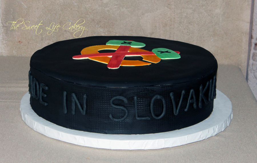 Hockey Puck Groom's Cake on Cake Central