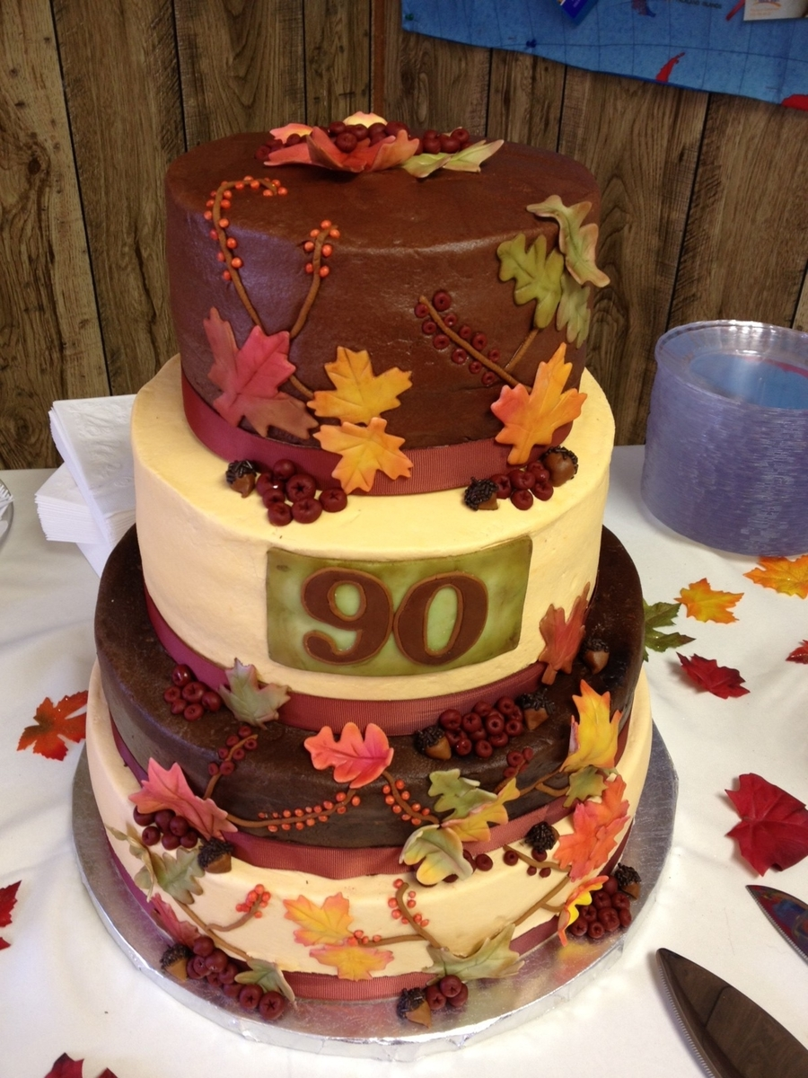 Fall Themed 90Th Birthday on Cake Central