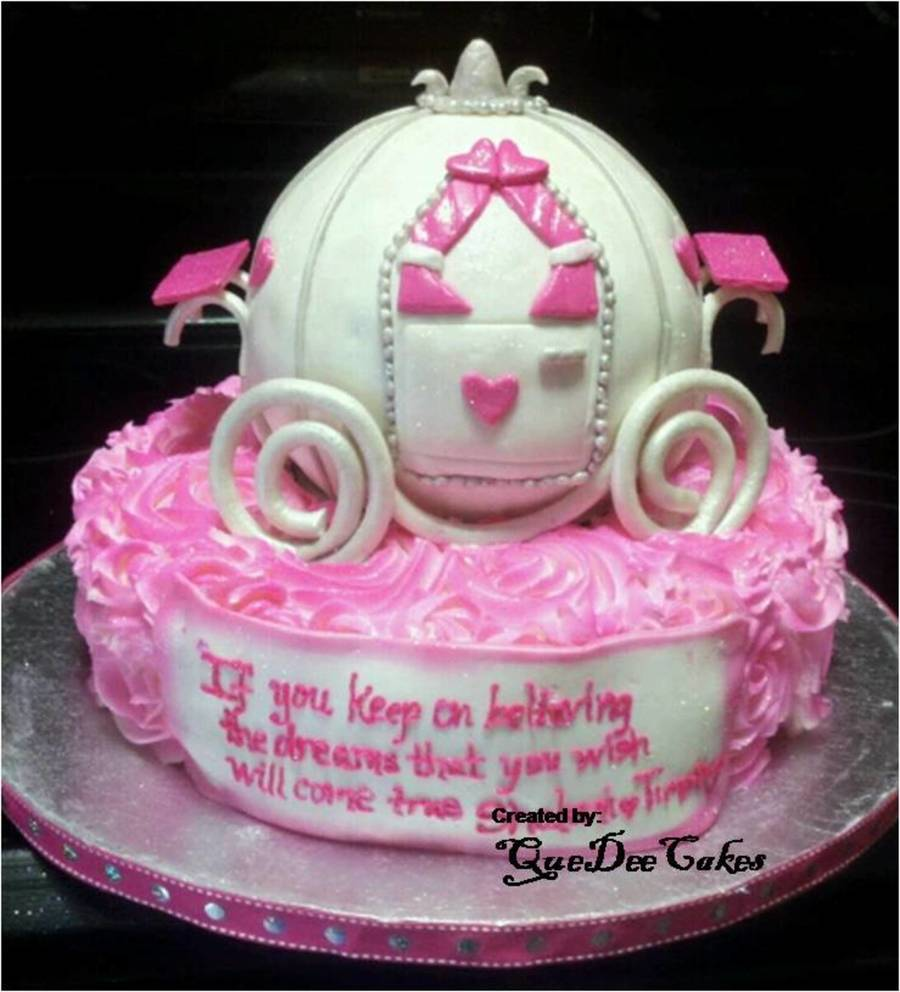 Princess Carriage Bridal Shower Cake on Cake Central