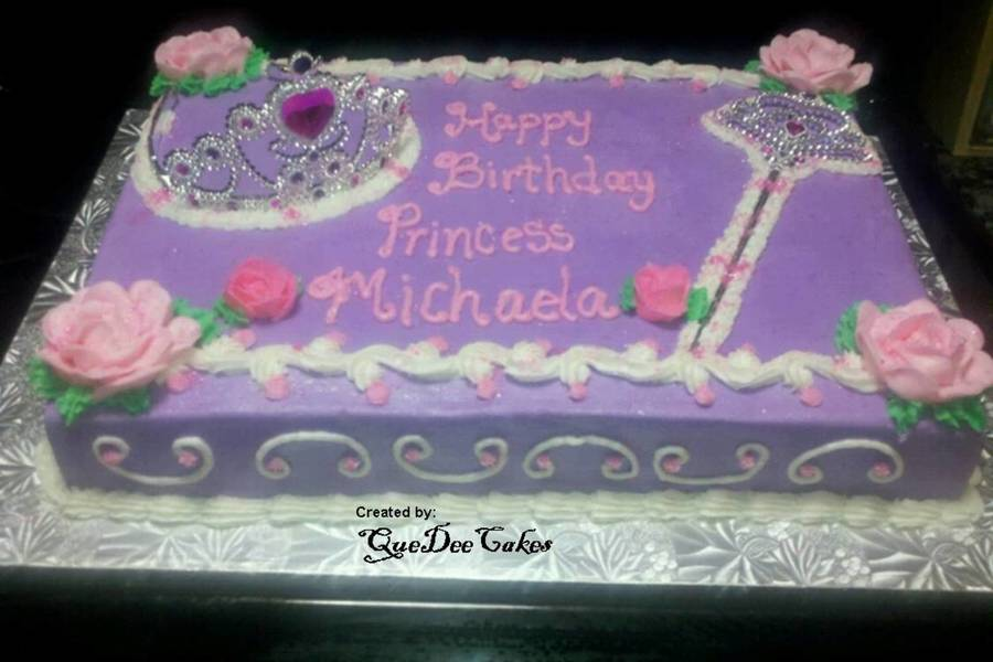 Princess Cake With Crown Tiara And Wand Cakecentral Com