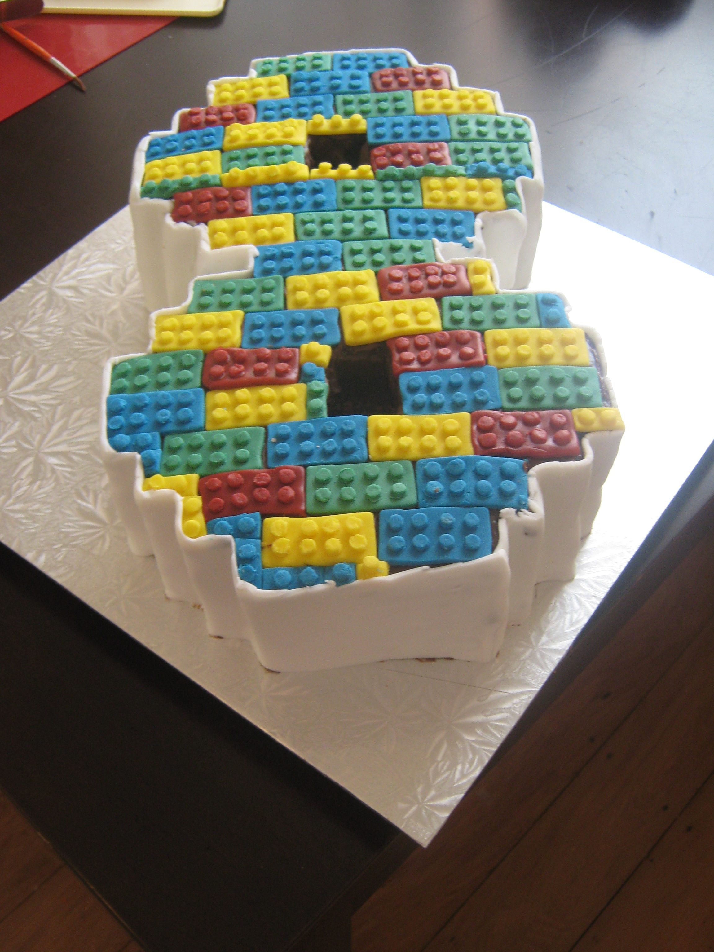 My Sons 8th Birthday Cake He Had A Lego Themed Party And Id Seen
