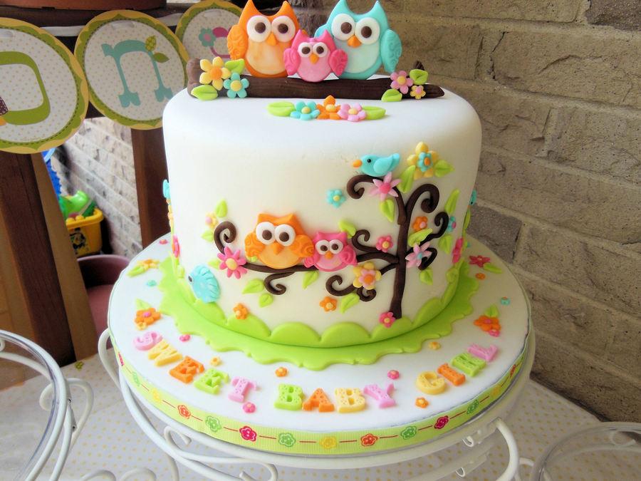 Owl Family Baby Shower Cake Cakecentral Com