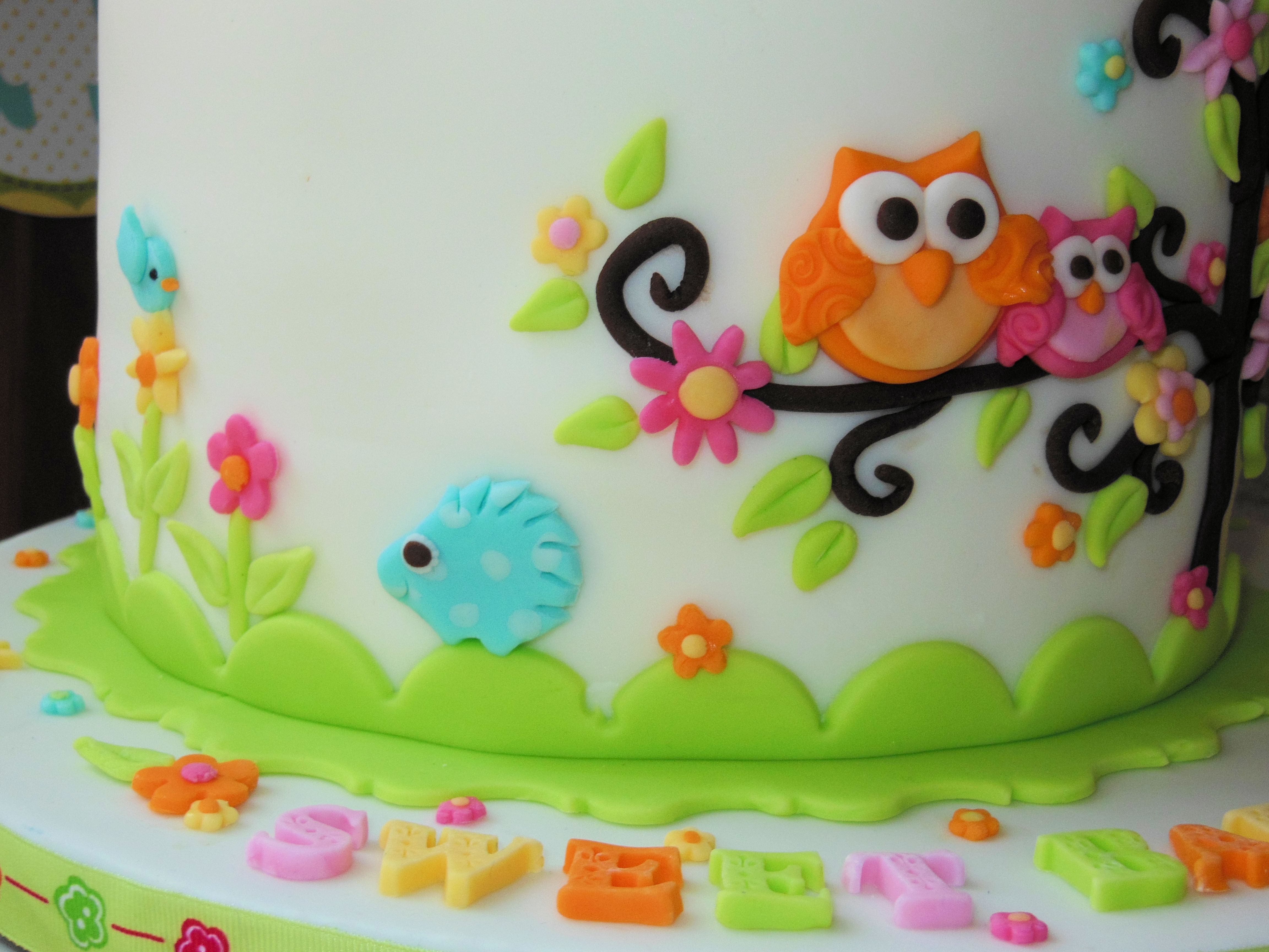 Owl Family Baby Shower Cake CakeCentral