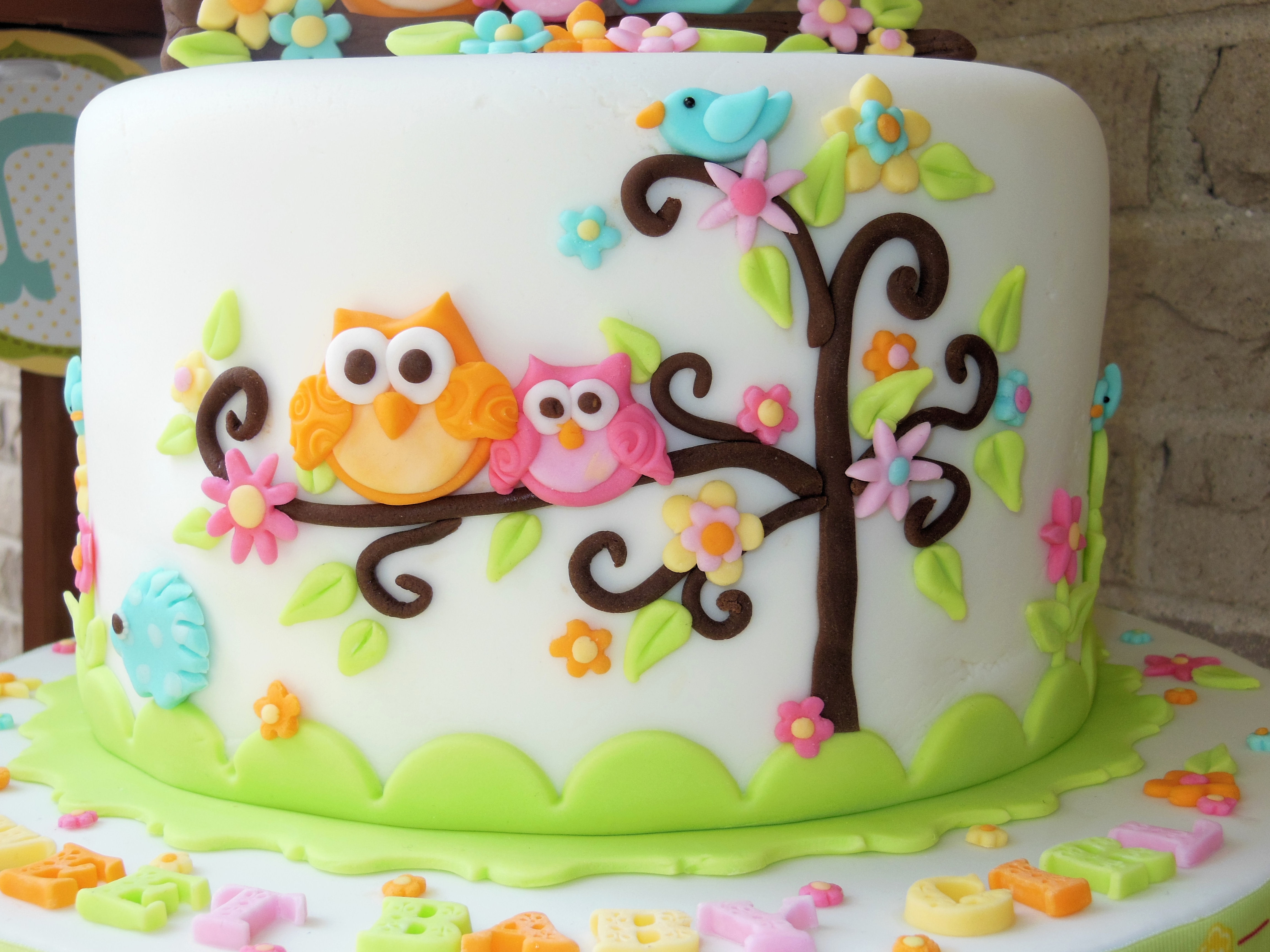 Owl Family Baby Shower Cake - CakeCentral.com