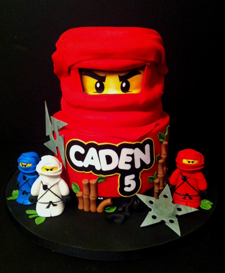 Ninjago Lego Birthday Cake Eyes And Wording Are Made From ...