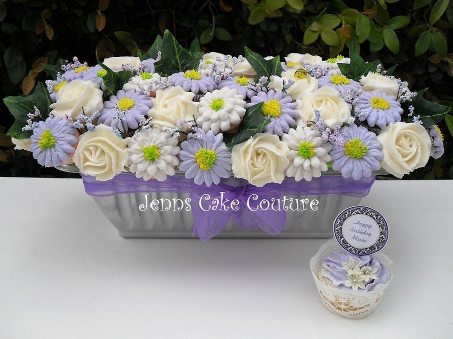 Lavender Bouquet  on Cake Central