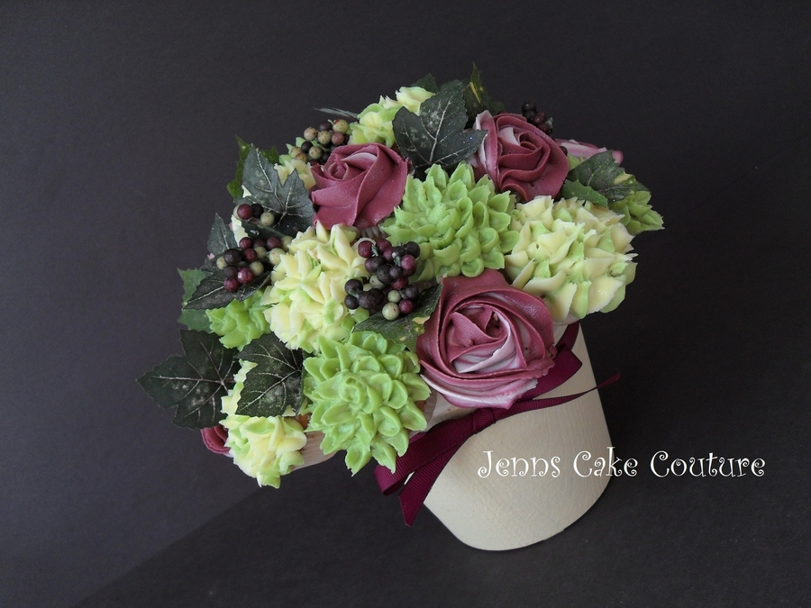 Merlot Bridal Bouquet  on Cake Central
