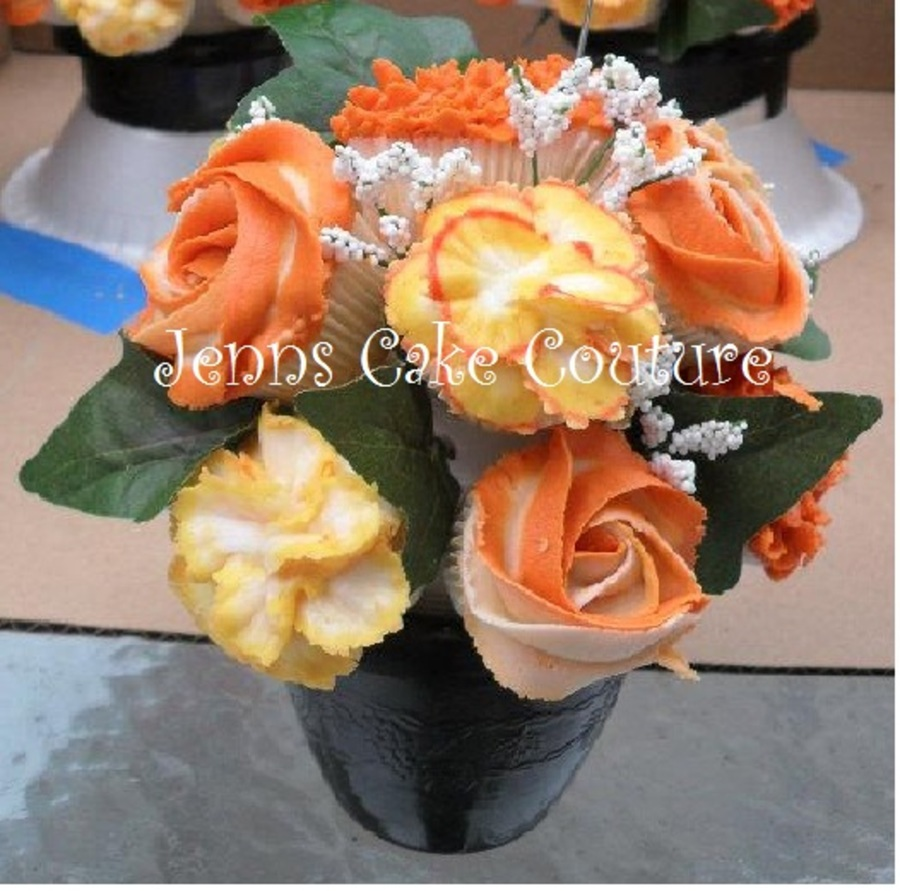 Orange Bouquet  on Cake Central