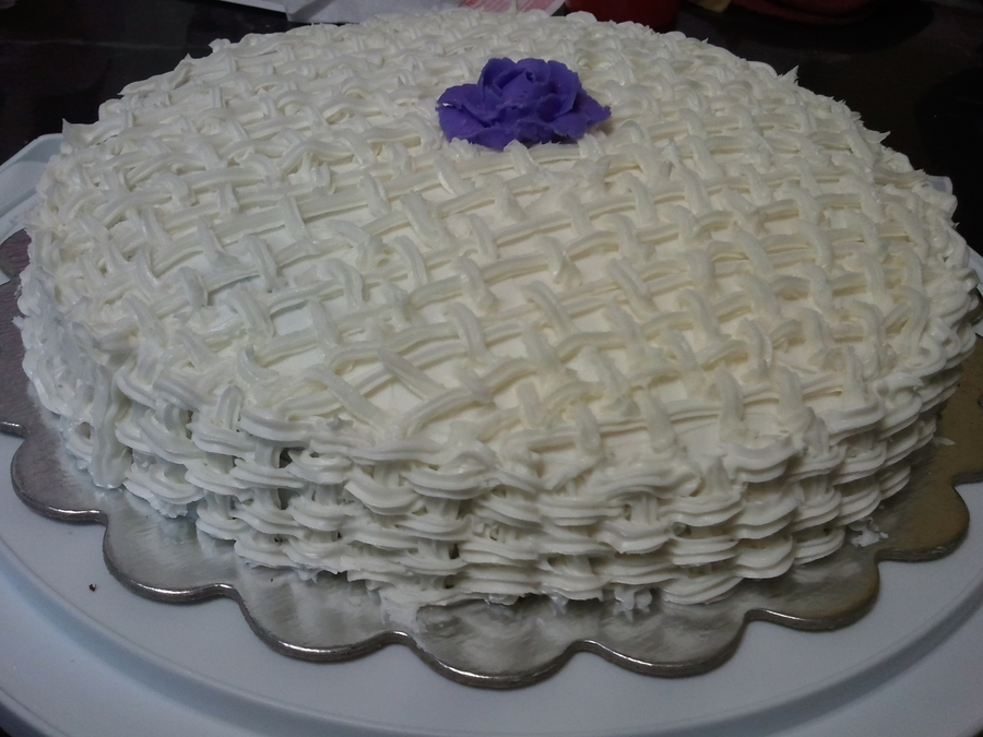 Basket Weave  on Cake Central