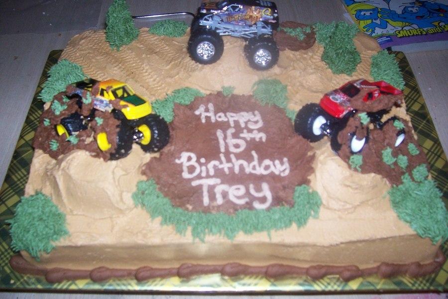 Remarkable Mudding Big Trucks Cakecentral Com Funny Birthday Cards Online Aboleapandamsfinfo