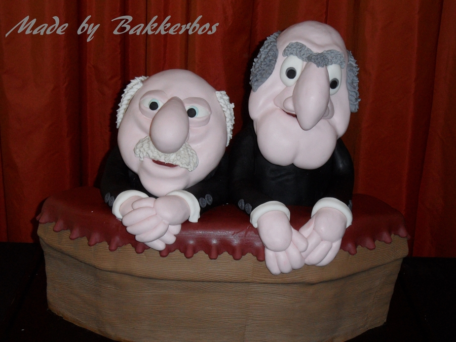 The Muppets 3-D Cake Statler And Waldorf on Cake Central