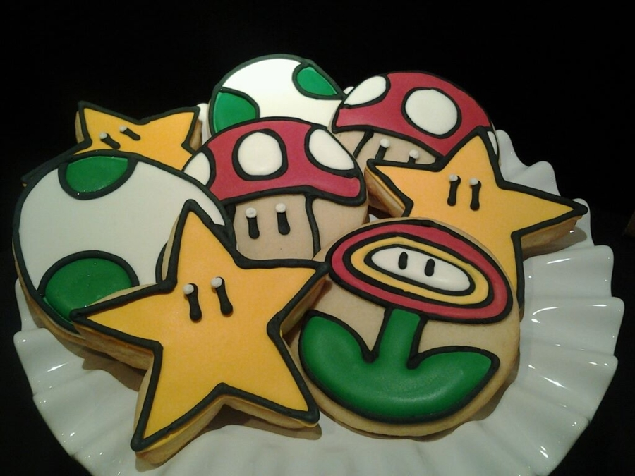 Mario Bros Cookies on Cake Central