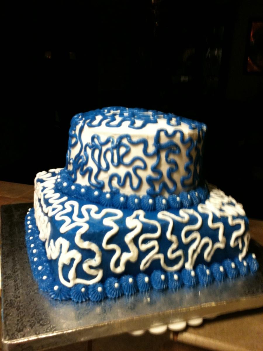 Cornelli Lace Birthday Cake - CakeCentral.com