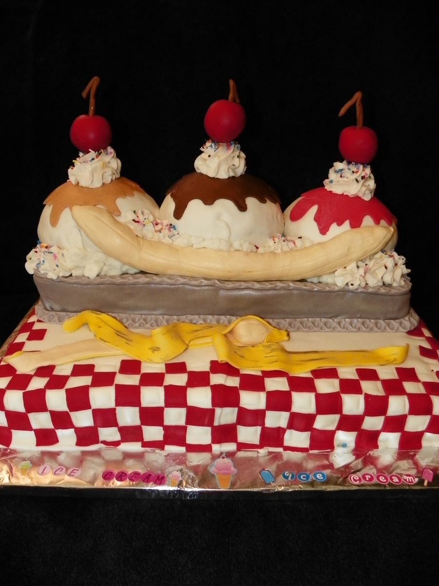 Banana Split  on Cake Central