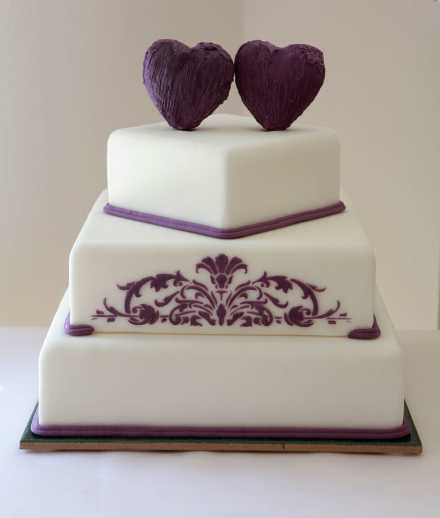 Square Hearts on Cake Central