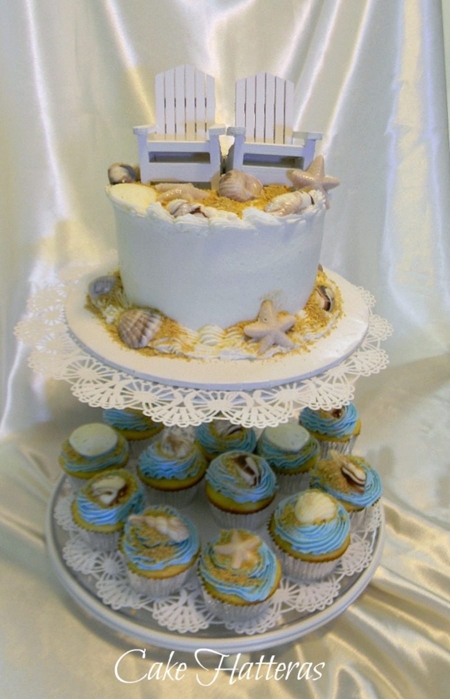 Small Beach Wedding on Cake Central
