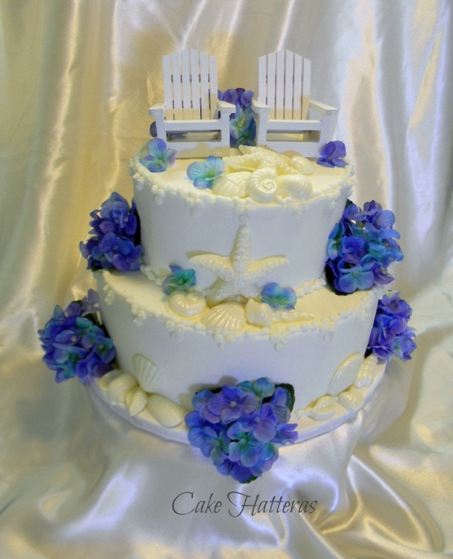 Not Just Another Beach Wedding Cake on Cake Central