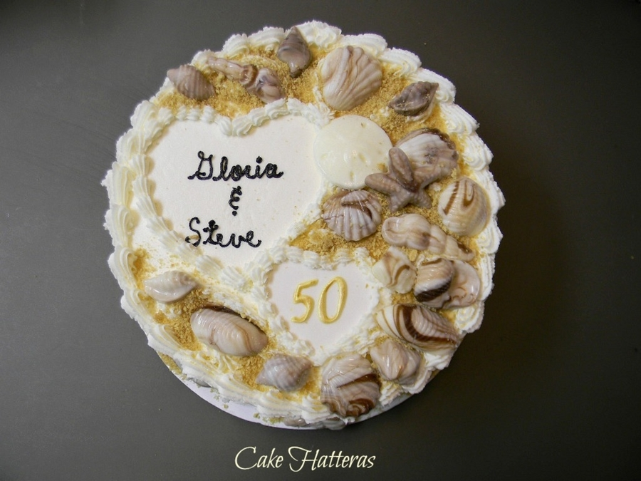 50Th Anniversary At The Beach on Cake Central