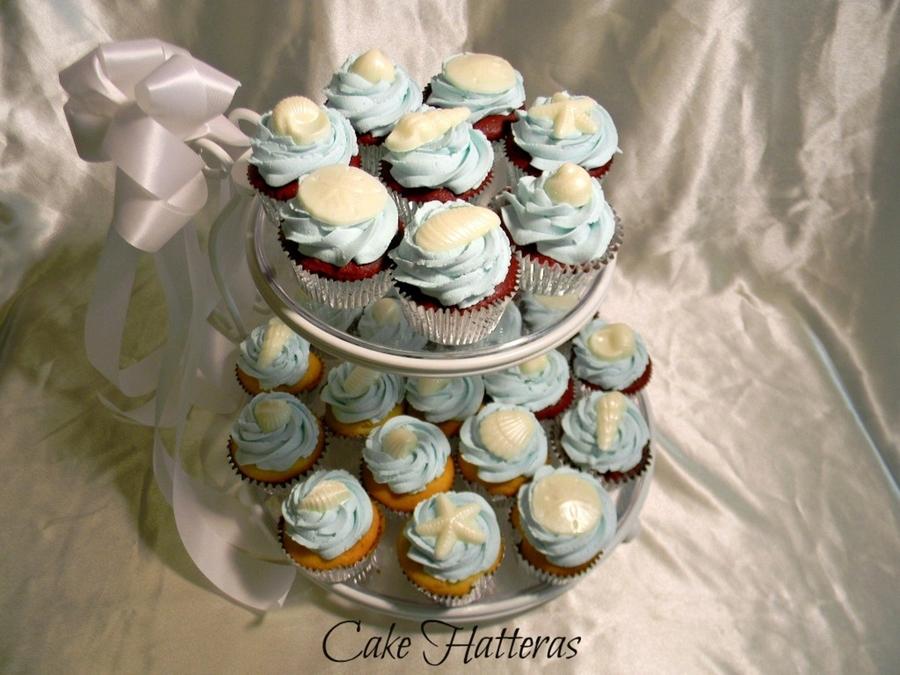 Beachy Cupcakes For A Beach Wedding On Cake Central