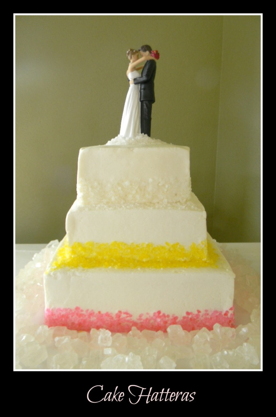 Rock Candy Wedding Cake  on Cake Central