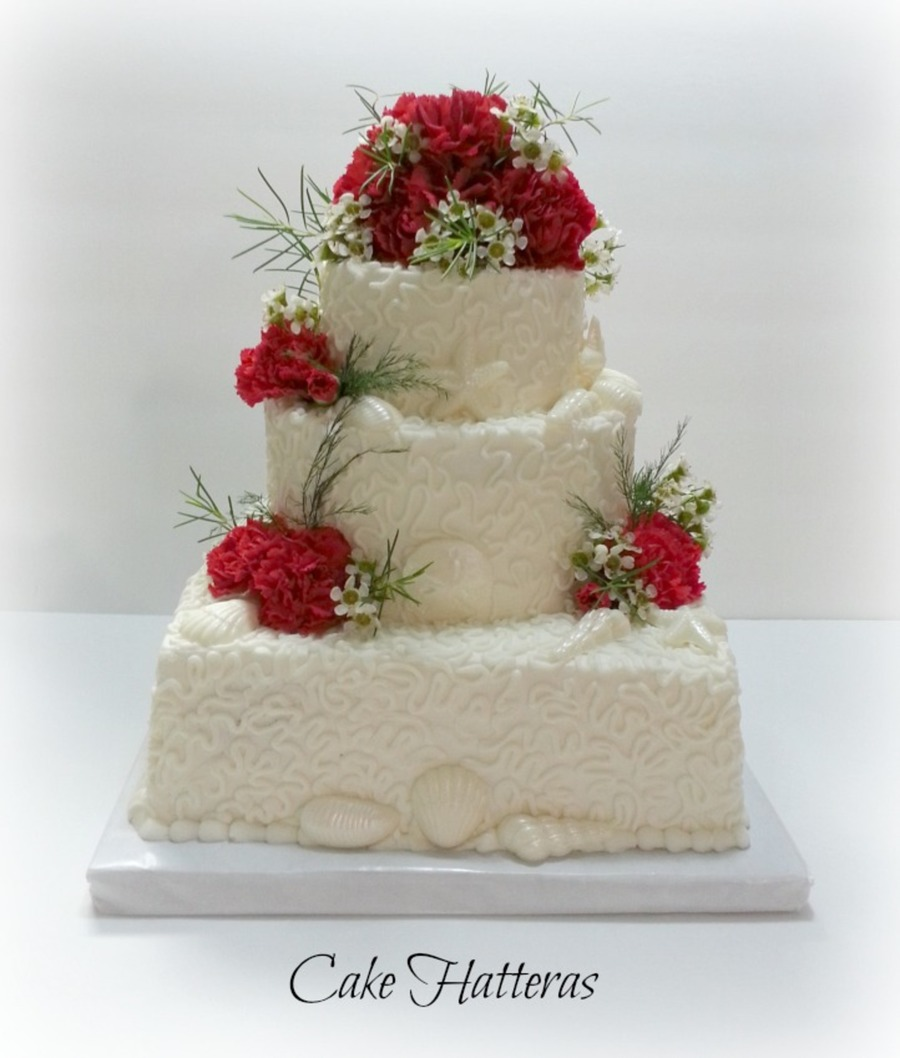 Carnations And Seashells on Cake Central
