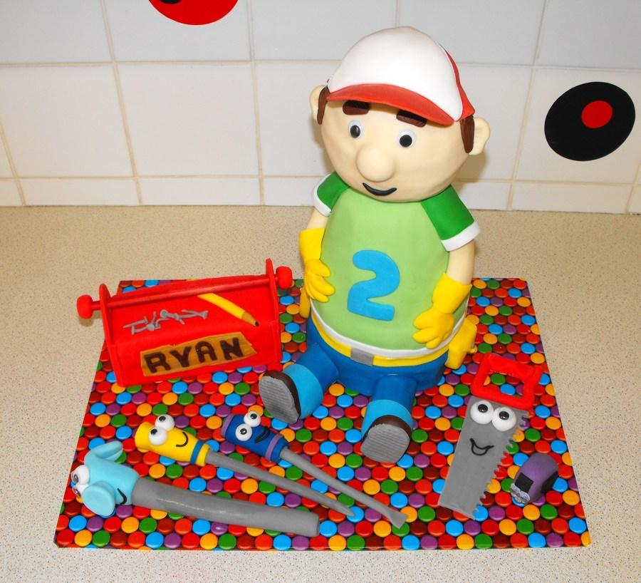 Phenomenal Handy Manny Birthday Cake Cakecentral Com Birthday Cards Printable Inklcafe Filternl