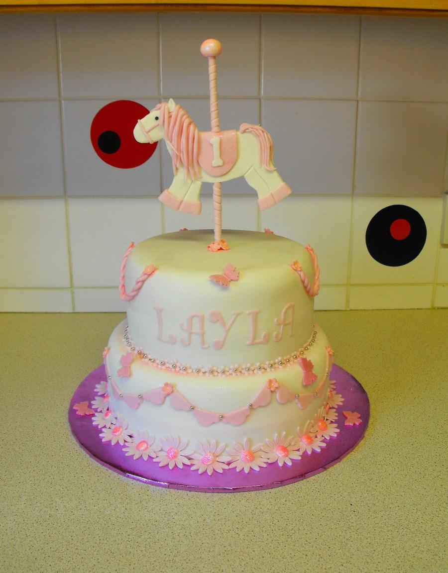 1st Birthday Cake Carousel Horse Cake Cakecentral