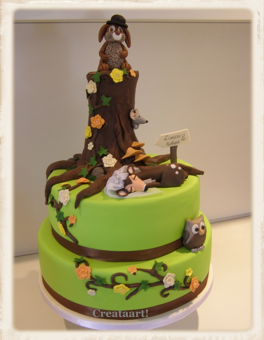 Weddingcake For A Hunter And His Wife on Cake Central