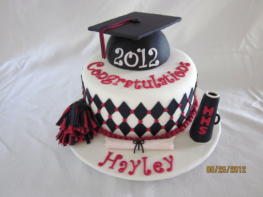 Graduation Birthday Cake Design : Cheerleader Graduation Cake - CakeCentral.com