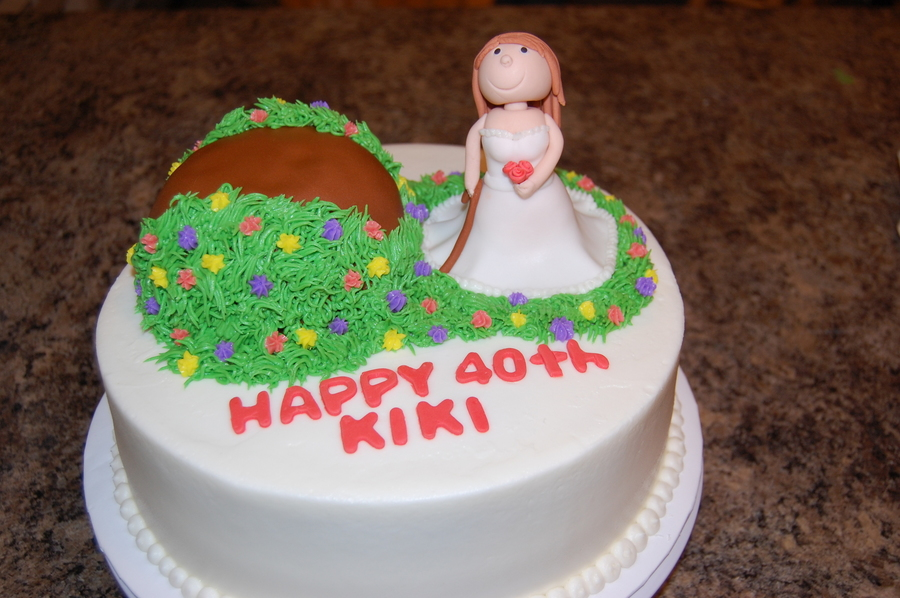 Over The Hill Bride on Cake Central