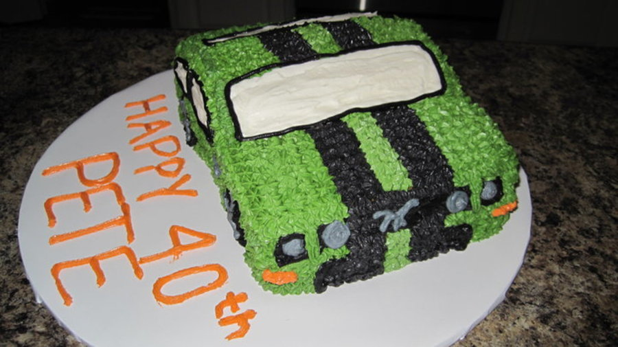 3D Mustang on Cake Central
