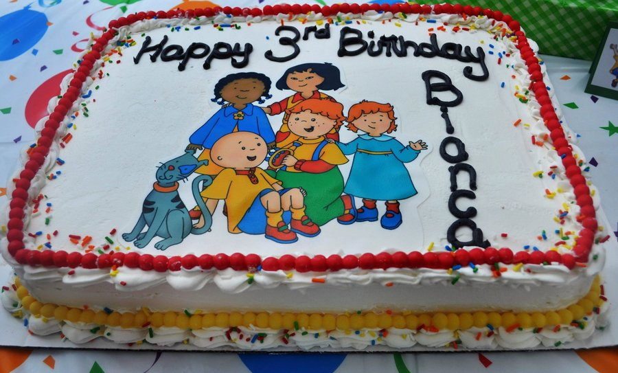 Cool Caillou Birthday Cake Cakecentral Com Funny Birthday Cards Online Bapapcheapnameinfo