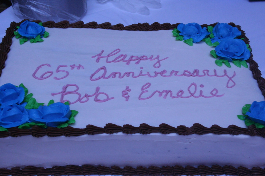 Anniersary Cake For 65 Years on Cake Central