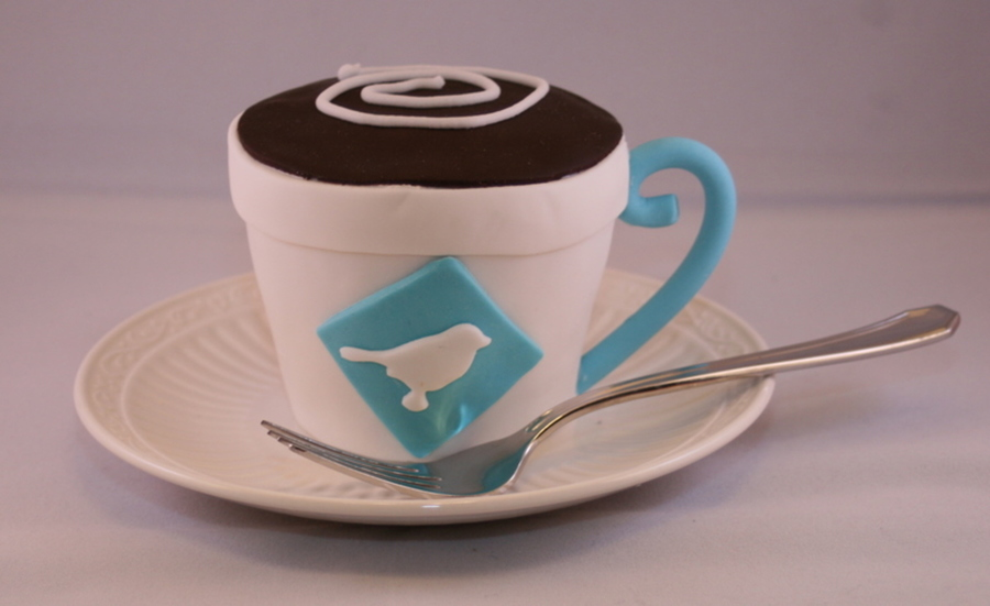 Coffee Cup Cakelet on Cake Central