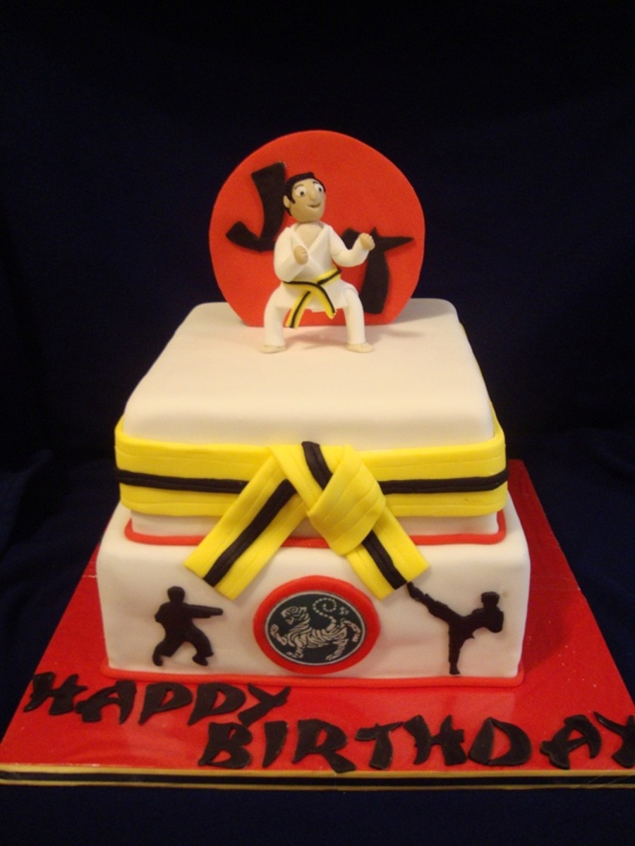 Karate Birthday Cake Images