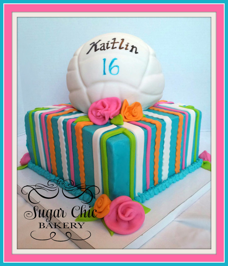 8 Inch Butter Cream With Fondant Volleyball on Cake Central