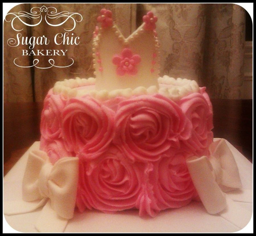 Rosette Princess Cake on Cake Central