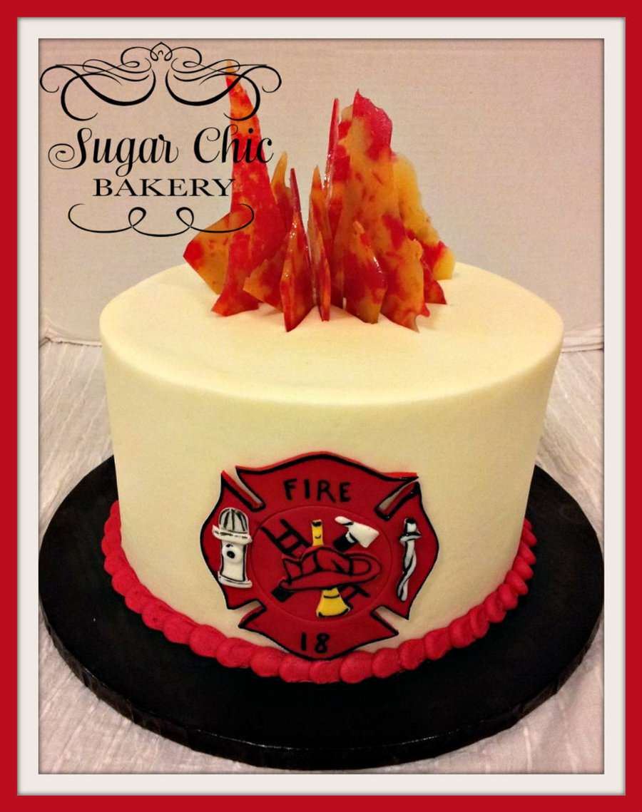 Stupendous Fire Fighter Birthday Cake Cakecentral Com Personalised Birthday Cards Veneteletsinfo
