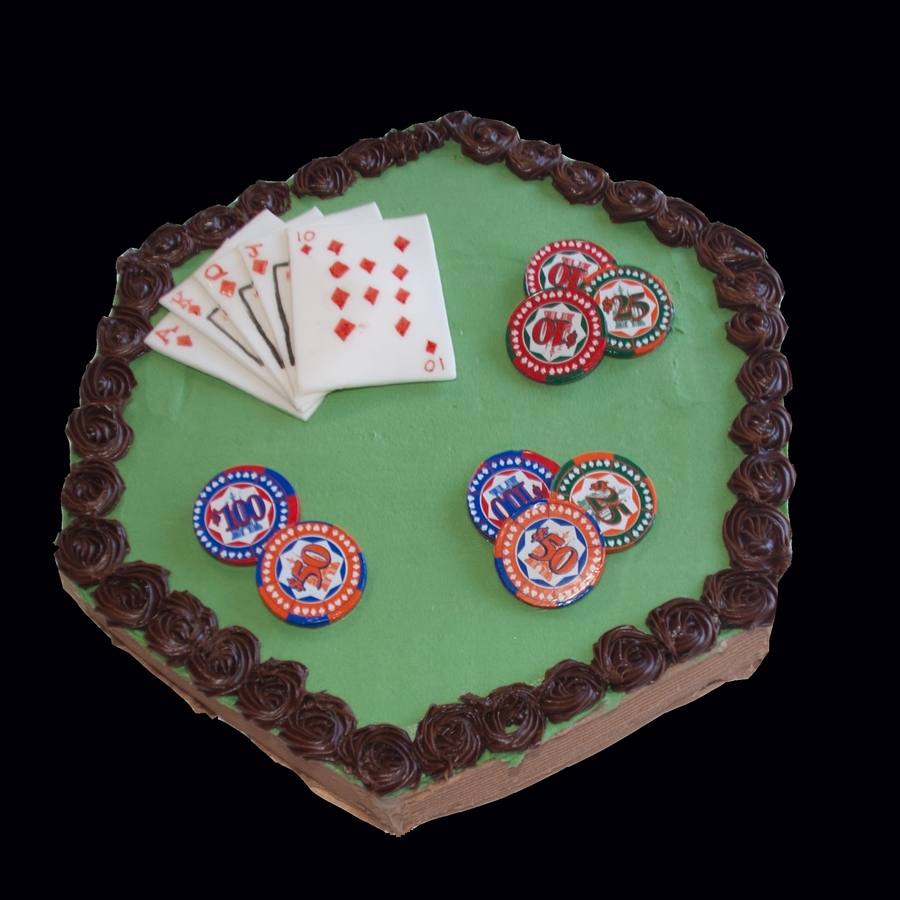 2Nd Poker Cake on Cake Central