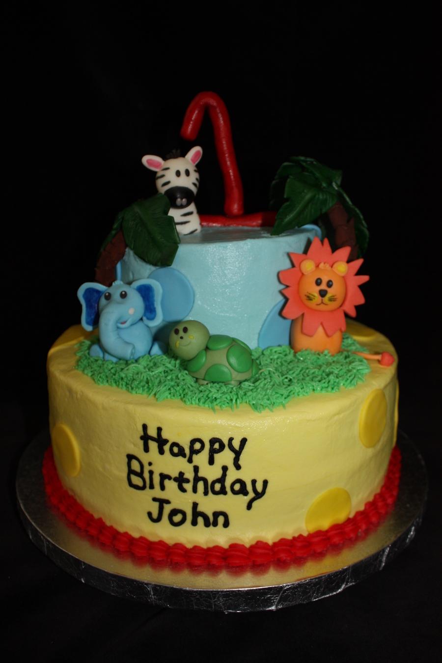 Safari 1st Birthday Cake Cakecentral Com