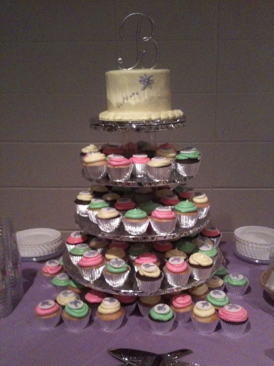 Cupcake Tier Wedding on Cake Central
